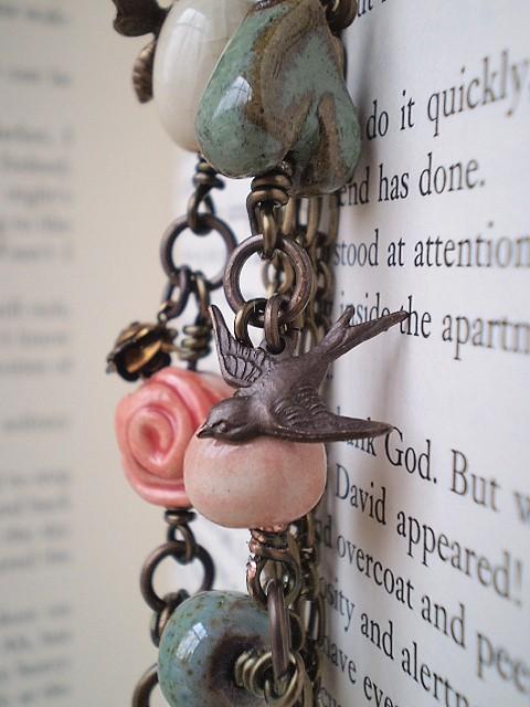 Gaea Bead Garden Charm Bracelet in Brass