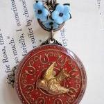 Fly Away Brass Ox Bird Locket