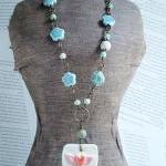 Happy Hearts Necklace in Turquoise